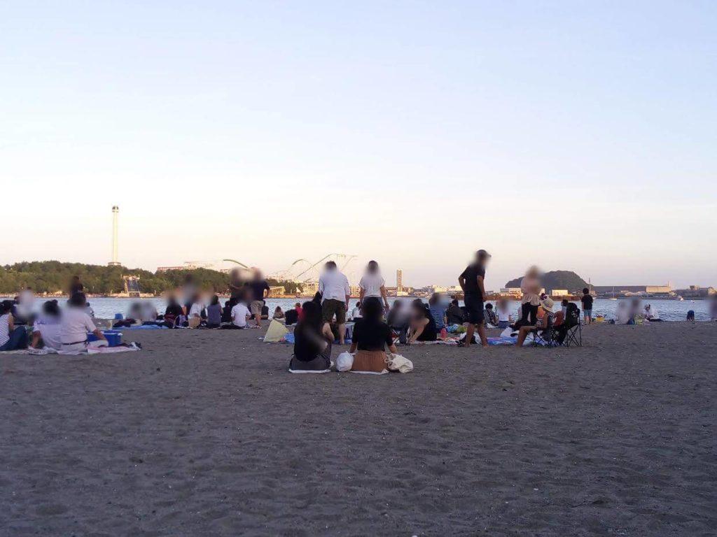 海の公園,花火大会,混雑時間