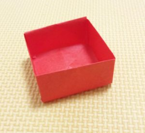 箱,折り方,簡単,正方形,折り紙