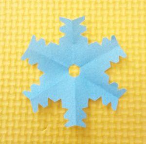 雪の結晶,切り絵,簡単