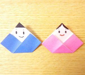 お雛様,折り紙,簡単,完成