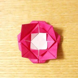 バラ,折り紙,簡単,折り方