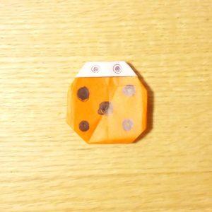 てんとう虫,折り紙,簡単,折り方
