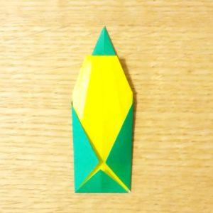 とうもろこし,折り紙,簡単,折り方